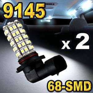9145-9140-H10-Super-White-68-SMD-LED-Bulbs-For-Driving-Fog-Light-2-pcs