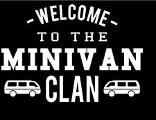 MINIVAN CLAN Vinyl Decal Funny Car Truck Van Family White Vinyl
