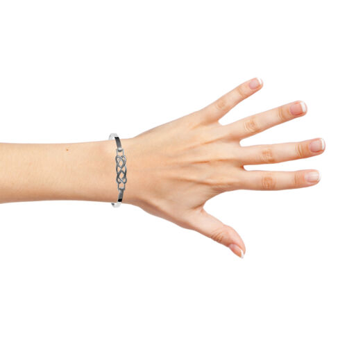 Para mujer Pulsera Celta Con Bisagras sólido de plata esterlina 925 UK 925 8.9g HM Brazalete