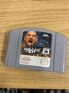 Vintage WCW Mayhem N64 juego Pak Nintendo 64 PAL CARTUCHO sólo probado y de trabajo