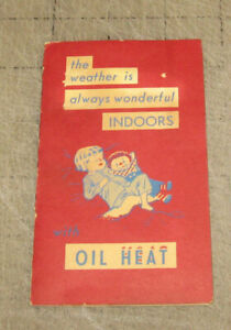 Vintage-HEDRICK-HEATING-OIL-SERVICE-Sewing-Needle-Book-Glen-Rock-PA