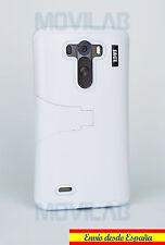 Funda LG D855 / G3 protectora bumper con soporte color Blanco
