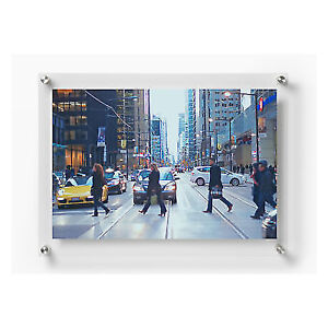 Wexel Art 21x27 Double Panel Floating Acrylic Frame For 18x24 Photo