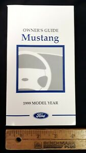 1999-MUSTANG-Original-Owners-Manual-Guide-Excellent-NOS-Condition-US