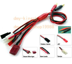 Easy-5in1-Multi-function-JST-T-plug-Futaba-Tamiya-Connect-Wire-for-RC-Charger-B6
