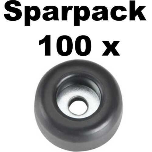 100 Pieds en caoutchouc Ø 25 x 11 mm acier dépôt Adam Hall 4900 gerätefuß Möbelfüße Caoutchouc