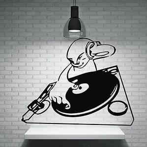 Wall vinyl sticker dj night club trance house music tv hip for House music vinyl