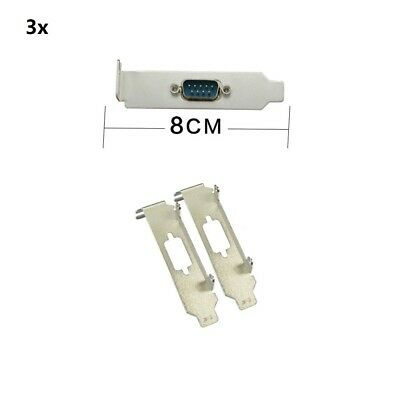 10x Low Profile Bracket Short Panel for Serial Port DB9 RS232 COM Card
