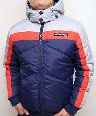 Ellesse Heritage - Naxo Padded Jacket in Navy Blue, Silver, Red / ski coat SALE