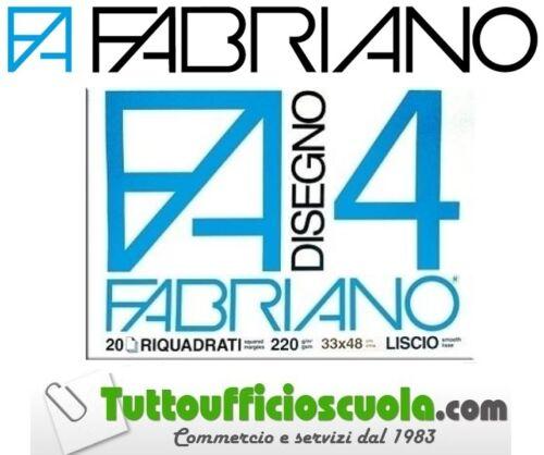 BLOCCO ALBUM F4 33X48 FABRIANO 20 FOGLI LISCIO SQUADRATO 220G//M SCUOLA DISEGNO