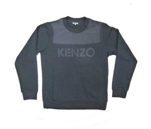 a9d2a67ee Image is loading NEW-KENZO-AUTHENTIC-DUAL-FABRIC-SWEATSHIRT-BLACK-STUNNING-