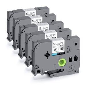 5 Pk Compatible Label Maker Tape 12mm for Brother P-Touch TZ-231 TZe-231 PT-D210 6936035969026