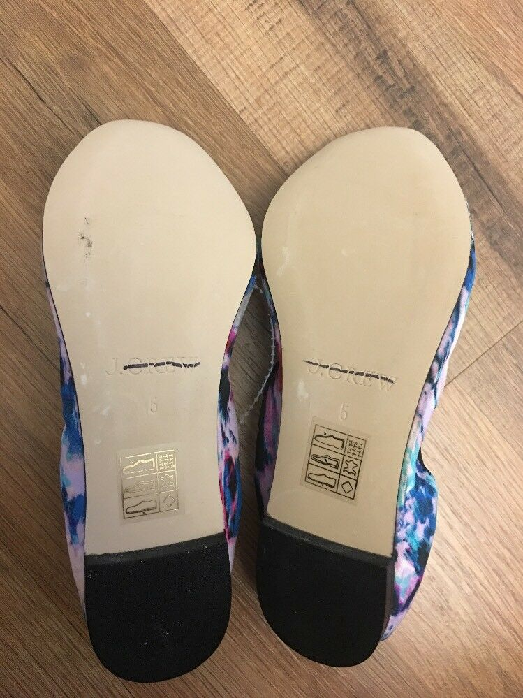New J Crew Ava Tie-silk Ballet Flats Multi 5 Color Sz 5 Multi E0751 284f53