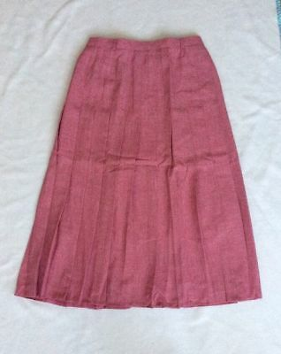 Skirts Dynamic Bnwot 'riddella' Pink Pleated Midi Skirt Fully Lined Size 14