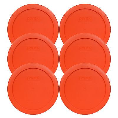 Aqua Pyrex 7201-PC 4 Cup Orange /& Green Round Plastic Lids for Glass Bowl 3PK