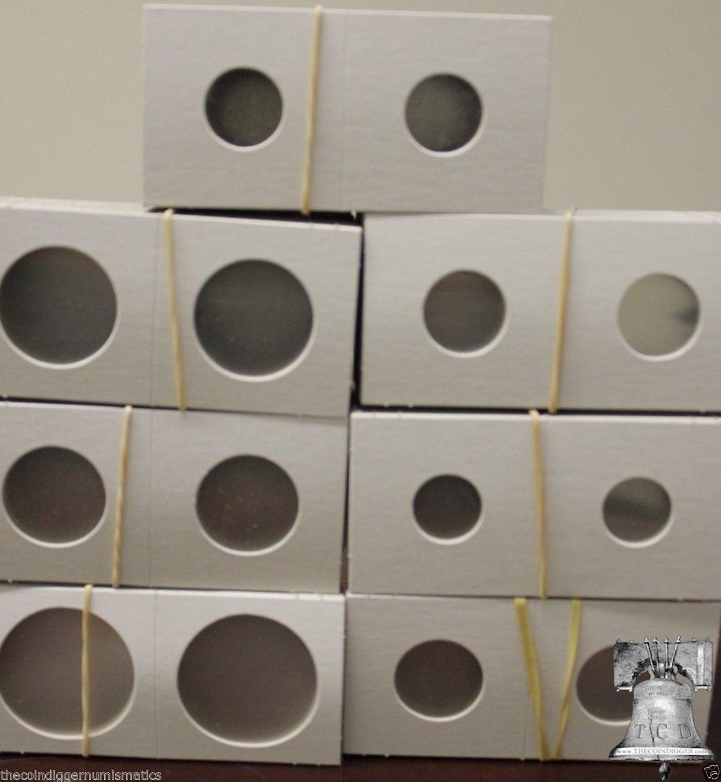 500 PENNY CENT Coin Holder 2x2 Flip BCW Mylar Cardboard 5 Storage Box Case 19mm