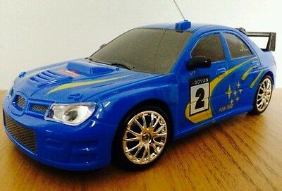 SUBARU IMPREZA WRC Radio Remote Control Car FAST SPEED DRIFT CAR - BLUE BLACK