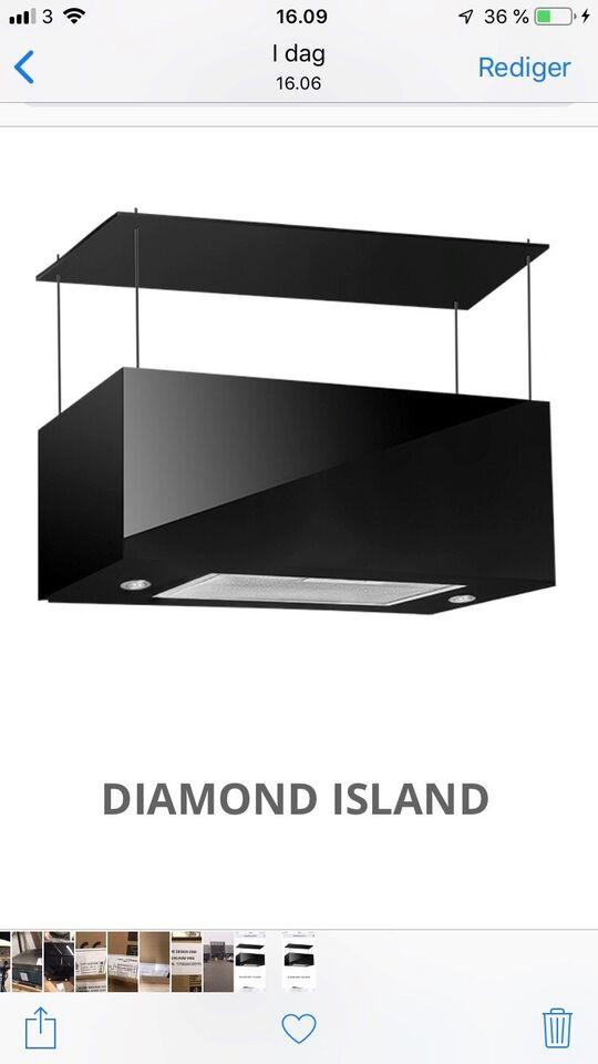 Emhætte, Gerson Diamond Island , b: 75 d: 35 h: 35
