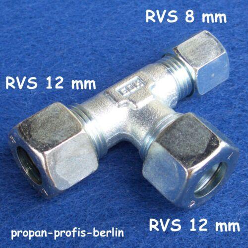 Schneidringverschraubung TR 12 x 12 x 8 mm Ermeto für Gasrohr Rohrverschraubung