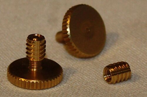 Concertina Parts - Set of Knurled Brass 13mm or 19mm Hand Strap Screws