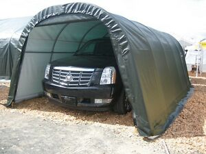 12x24x8 Round Shelterlogic Shelter Portable Garage Carport