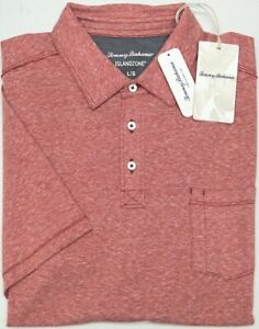 NWT-89-Tommy-Bahama-SS-Regal-Red-Shirt-Mens-Size-L-Bodega-Beach-Polo-Heather