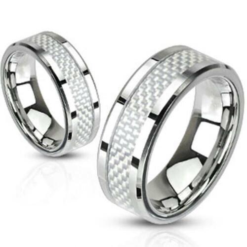 Anillo de acero inoxidable señora caballero banda anillo de compromiso dedo anillo anillos de pareja de r-m2314