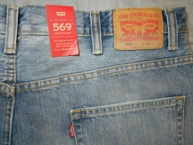 9c7f713d NEW LEVIS levi's 569 JEAN SHORTS size 40 LOOSE STRAIGHT blue COTTON men's  NWT c