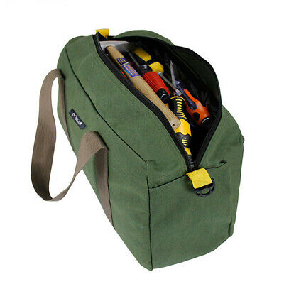 Large Space Tool Bag Zippered Storage Pocket Electricians Repairing Tools Pouch