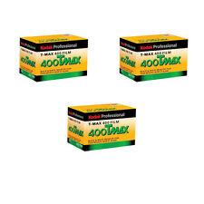 3 Rolls Kodak TMY-36 TMAX 400 Black and White Negative Print Film FRESH DATE