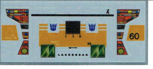 g1 Decepticon GUFO è REPRO Etichette//Adesivi Transformers GENERATION 1