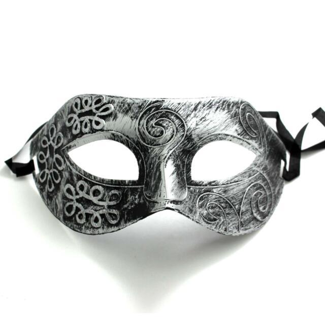 1x Men's Party Gladiator Style Face Mask Eye Half Face Cover Masquerade +String