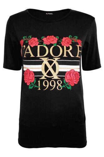 Women Ladies J/'Adore 1998 Celebrity Inspired Cap Sleeve Pullover Tee Top T Shirt