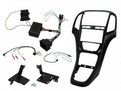 CTKVX42 Complete matt black double din stereo fitting kit Vauxhall Astra J 10-16