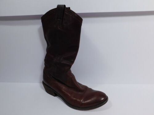 FRYE Women's Brown Leather Billy Pull On Boot Sz 8