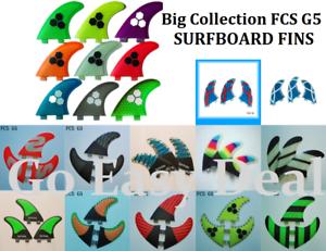 SURFBOARD FINS FCS G5 FIBERGLASS HONEYCOMB MATERIAL BIG COLLECTION HIGH QUALITY