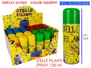 STELLE-FILANTI-SPRAY-DISPLAY-24-PZ-120-ml-COLORI-ASSORTITI-CARNEVALE