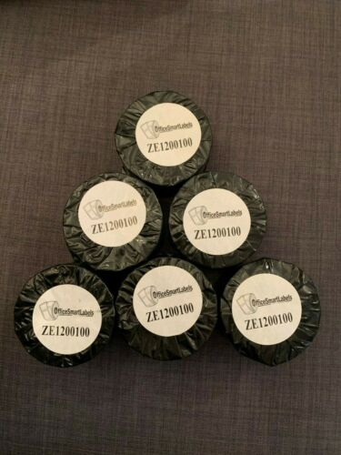 """Permanent Adhesive ZE1200100 Office Smart Labels 2/"""" x 1/"""" Direct Thermal Labels"""