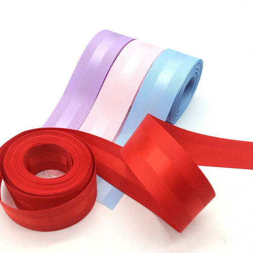 "5 yards 1/"" Grosgrain Edge Satin Ribbon Gift Wedding Party Decoration 25mm"
