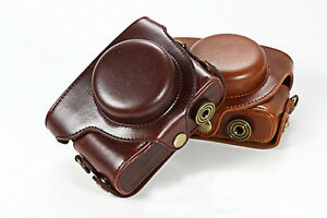 Leather-Camera-Case-Cover-Bag-Pouch-For-Panasonic-LUMIX-DMC-LX100
