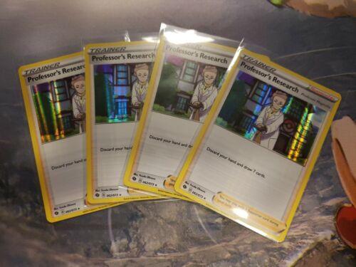 4 x Pokemon Professor/'s Research Holo Rare Champion/'s Path 062//073 Playset NM