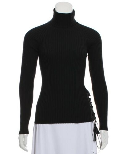 Jean Paul Gaultier Lace-up Turtleneck Sweater Size