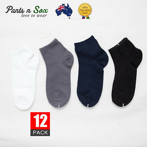 3 Pairs Girls Boys Plain School Socks Cotton Ankle Socks Black White Grey Socks