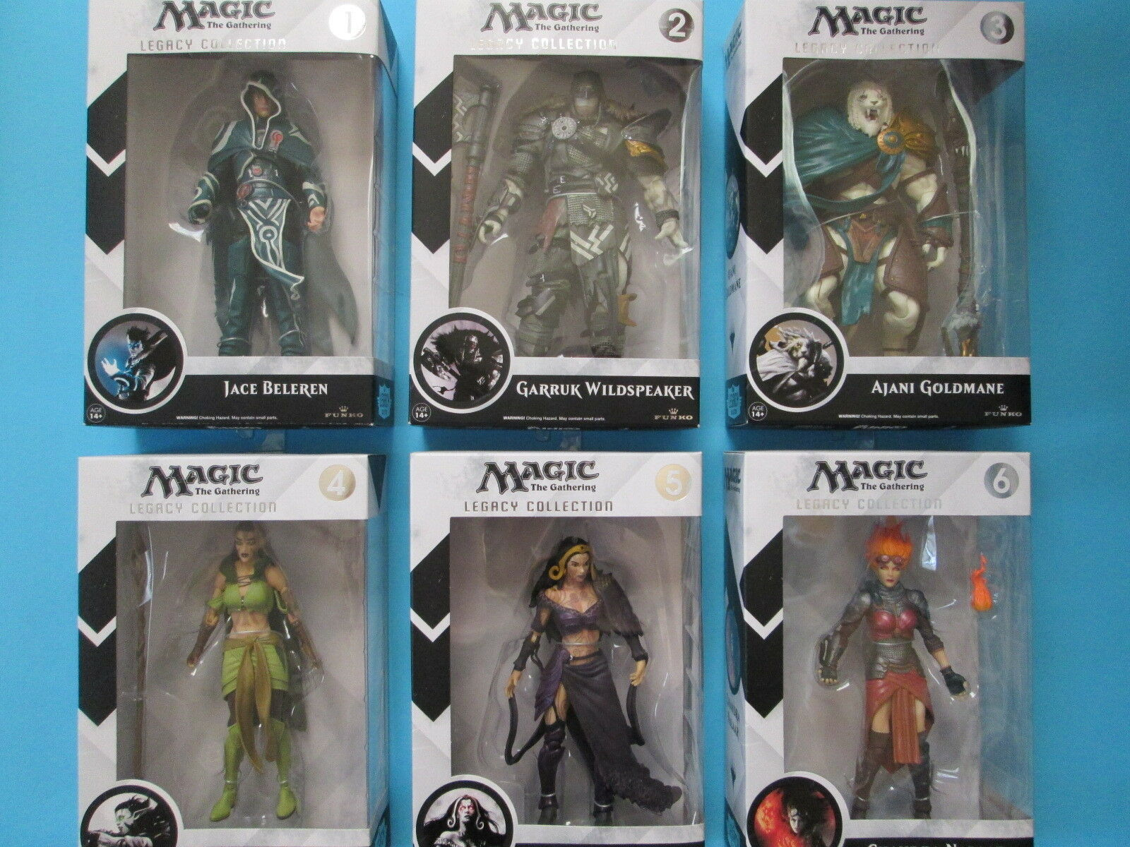 MAGIC THE GATHERING - Funko Legacy Collection 6  Figures - Series 1 Complete Set
