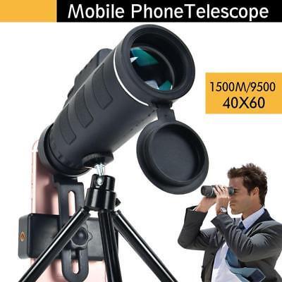 40X60 BAK4 Monocular Telescope HD Mini Monocular Outdoor Camping Scopes Tripod