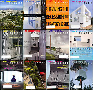 Architectural record magazine 2009 full set 12 back issues for Architectural design issues
