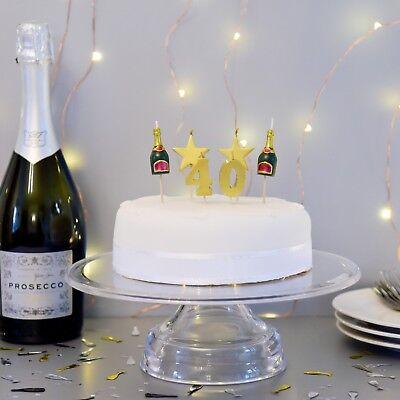 Enjoyable 3D 40Th Milestone Cake Candles Birthday Cake Cake Topper Ebay Personalised Birthday Cards Epsylily Jamesorg