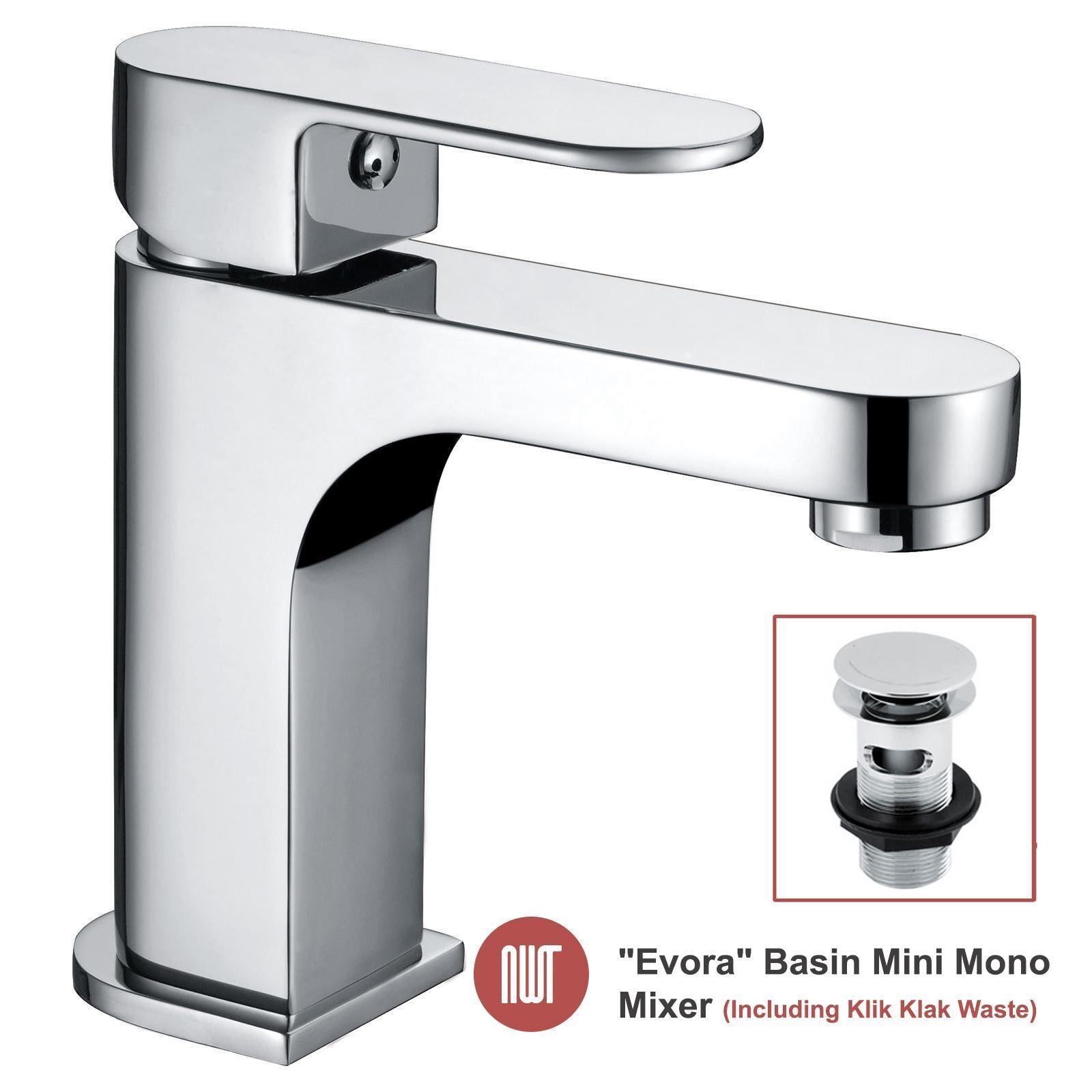 Évora  Cromo Mini Mono Monomando de Lavabo Grifos de baño de diseño -