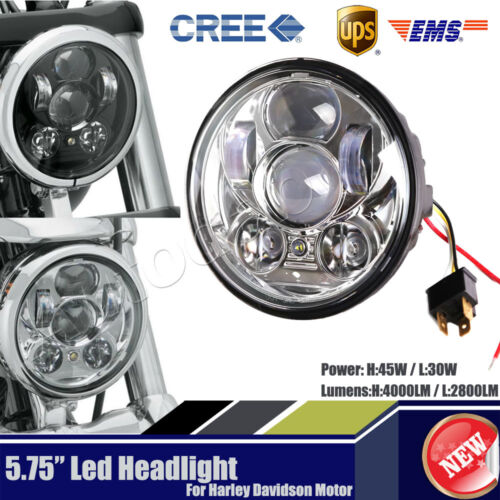 """Motorcycle 5.75/"""" 5-3//4/'/' Headlight Round Projector LED DRL Bulb For HL"""