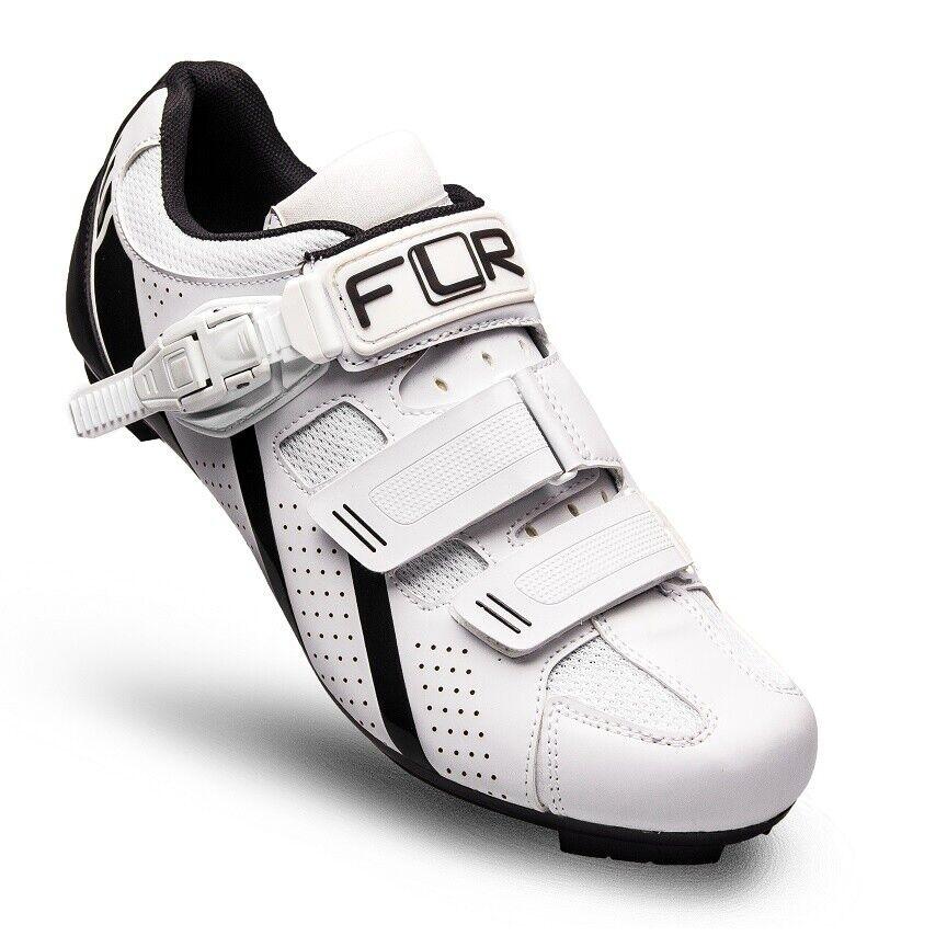 FLR F-15 Herren Rennradschuhe Shimano SPD Fahrradschuhe Klickschuhe weiß